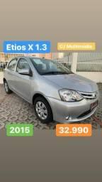 ETIOS X 1.3 2015 EXTRA!! Impecável