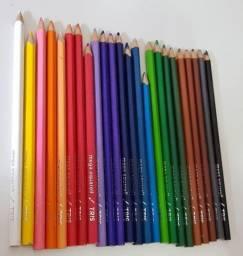 Lápis De Cor Aquarelável 24 Cores Tris