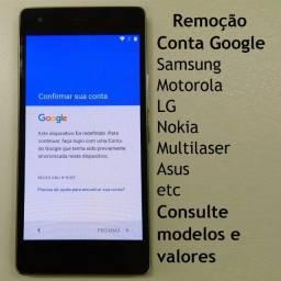 Desbloqueio de Celular Conta Google Senha Formatação Samsung Xiaomi Motorola