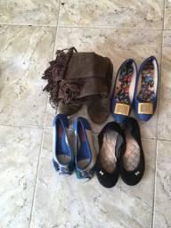 9 par de sapatos de número 34 e 35 tudo por 10 reais