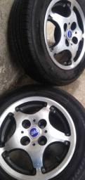 Vendo rodas aro 13 pneus novos