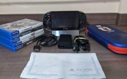 Ps Vita 3.73 Sony completo + Cartão SD 32gb + 6 Jogos