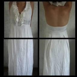 Vestido Fino Branco P
