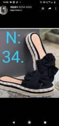 Sandália plataforma disponível