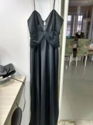 Vestido longo preto T 42