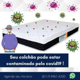 Vai continuar dormindo com as bacterias? Lavagem de Colchão