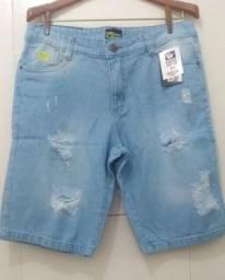 Bermuda jeans,e Brim