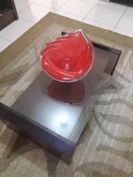 Fruteira Vermelha de Vidro