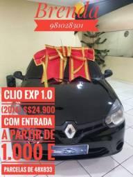 CLIO EXP 1.0 (2104) COM ENTRADAS A PARTIR DE 1.000 NA BOULEVARD AUTOMÓVEIS