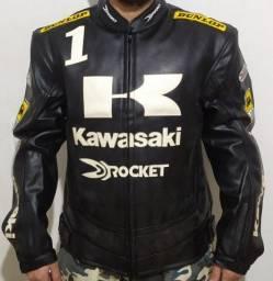 Título do anúncio: Jaqueta couro Kawasaki xxl