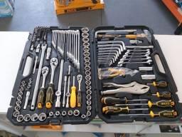 Caixa de ferramenta completa da ingco 142 pçs