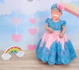 Vestido de Luxo Infantil  1 ano