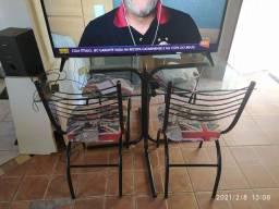 Baixou!!Mesa base de vidro 4 cadeiras