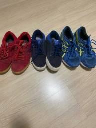 Lote 3 pares tênis masculinos usados - TAM 40