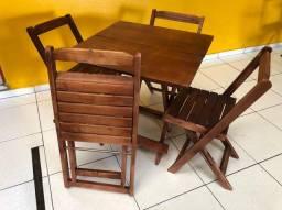 Conjuntos de mesas e cadeiras melhor preço entregamos em seu comércio