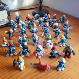 Raridade! Anos80 Smurfs schleich de várias partes do mundo. Oportunidade para colecionador