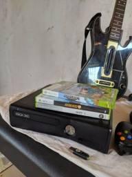 X-box 360 S Desbloqueado + 2 Controles E + De 20 Jogos