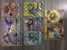Cartas foil Pokemon novas e cards de códigos para booster no Pokemon online