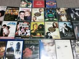 Lote de dvds, blu-rays e cds originais