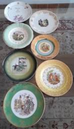 Diversos Pratos Antigos Decorativos - Valores Descrição - Porto Alegre/RS