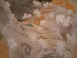 Véu de noiva branco com detalhes 3 metros