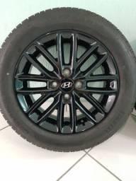 Jogo de Rodas Aro 15 Originais Hyundai HB20 Rspec Limited com Pneus 185/60/15