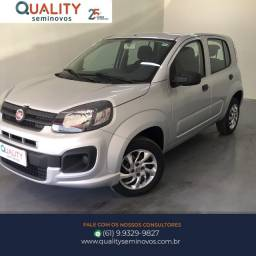 Fiat Uno Drive 1.0 Manual Flex 2017/2018 Prata