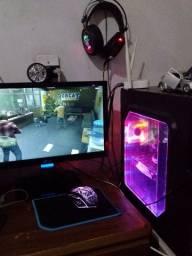 Vendo pc gamer completo com placa de video afox RX550 4gb GDDR5 aceito cartao