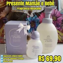 Presente natura mamãe e bebê fragrância relaxante