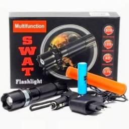 Lanterna Tática Led com bastão de emergência
