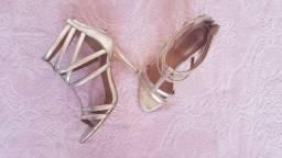Sandalia Dourada Zutti