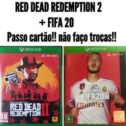 Red dead Redemption 2 + fifa 20 (mídia física)