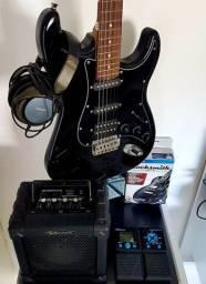 Guitarra stratocaster giannini completa