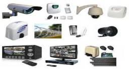Câmeras, cerca elétrica, Concertina, alarmes, sensores, interfone e vídeo porteiro