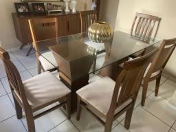 Conjunto Sala de Jantar Mesas e Cadeiras JACAÚNA