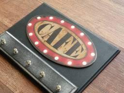 Porta chaves vintage, diversos temas mdf