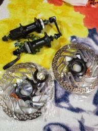Cubos shimano com discos