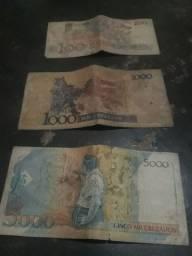 3 cédulas antigas 20 reais cada