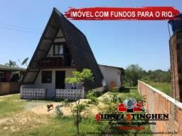 Casa fundos com o Rio, terreno com 360,00 metros quadrados