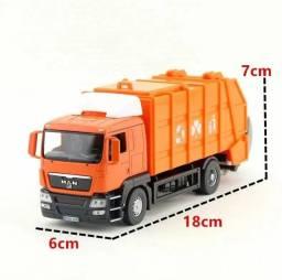 Miniatura Scania caminhão do lixo