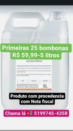 Álcool 70% solução 1lt e 5lt