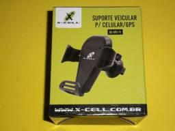 Suporte universal veicular entrada de ar para Gps e Celular R$32,70