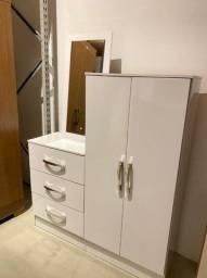 Cômoda Multiuso com Espelho Branca! 12x de  41,58