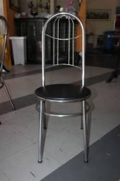 Cadeira / em Tecido / Ferro Cromado Cinza 90 cm x 36 cm x 36 cm