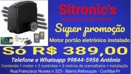 Super promoção motor portão eletrônico instalado
