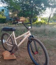 Bike aro 26 como banco tipo de mobe