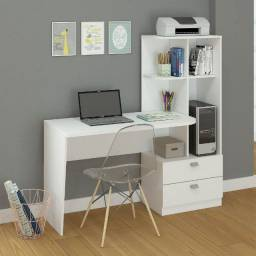 Título do anúncio: mesa de computador com estante elisa - frete gratis