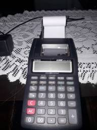 Calculadora eletrônica com papel semi nova