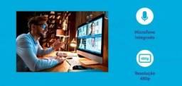 Webcam Multilaser 480p Mic Usb Preto - Wc051 Plugeplay