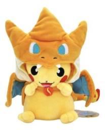 Pikachu Fantasiado de Charizard - 23cm